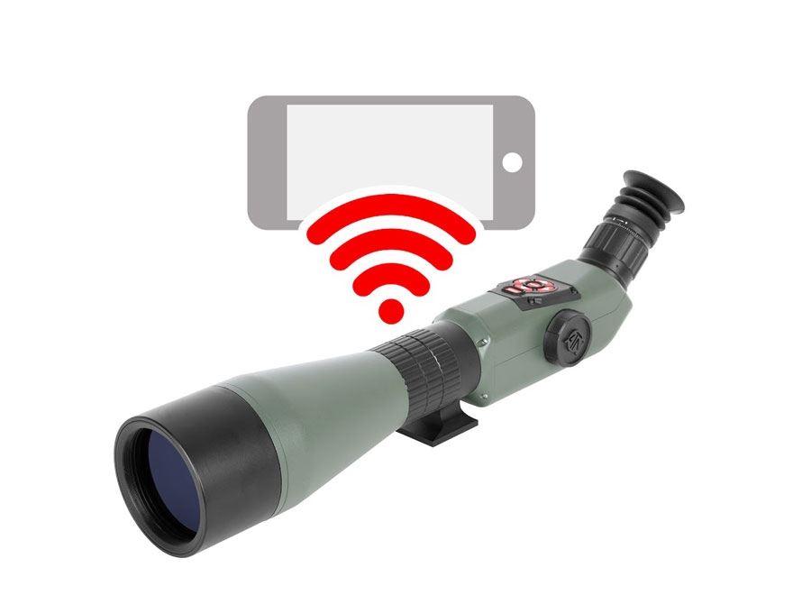 ATN X-Spotter Smart HD Spotting Scope 20-80x Day/Night Digital HD Gray