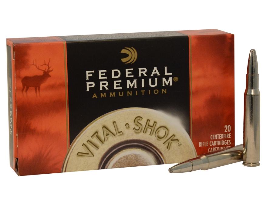 Federal Premium Vital-Shok Ammunition 30-06 Springfield 200 Grain Trophy Bonded Bear Cl...