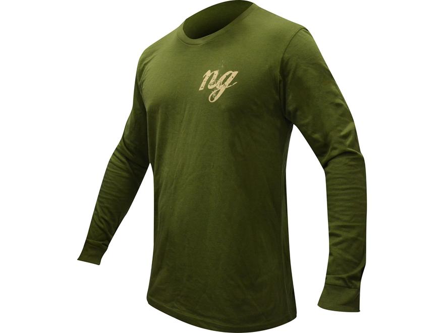 Natural Gear Men's Deer Logo T-Shirt Long Sleeve Tri-Blend Olive