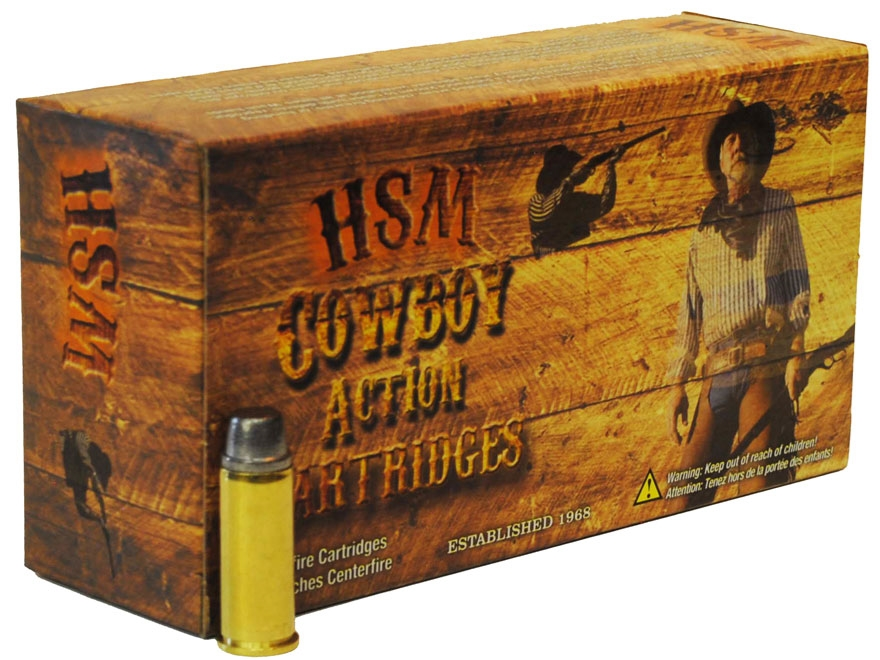 HSM Cowboy Action Ammunition 44 Russian 200 Grain Hard Cast Lead Round Nose Flat Point ...