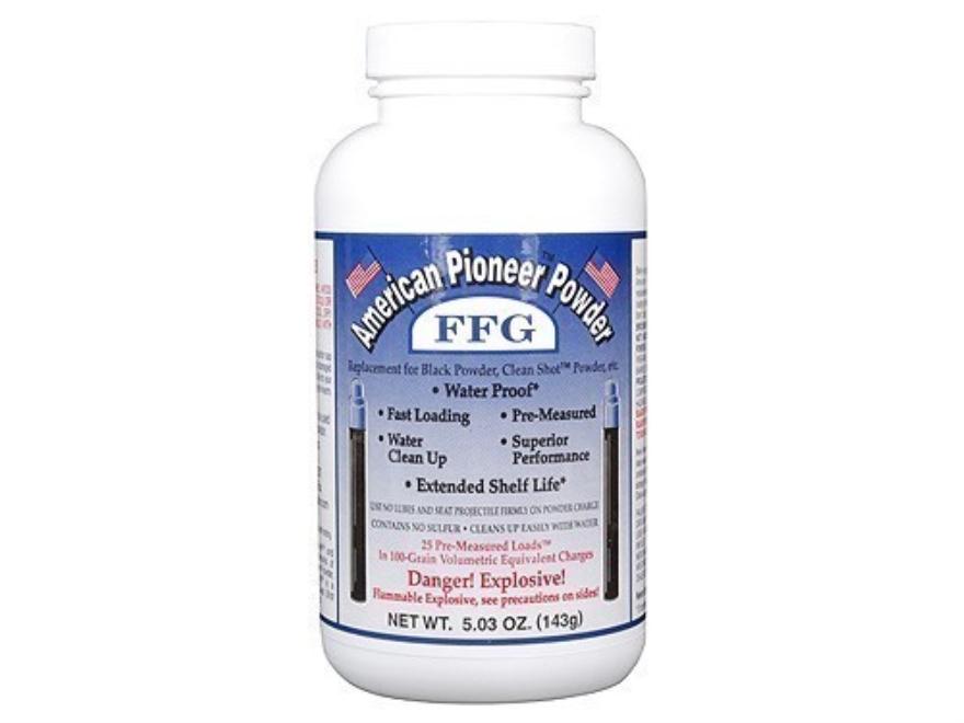American Pioneer FFg Black Powder Substitute 100 Grain Pre-Measured Tube Package of 25
