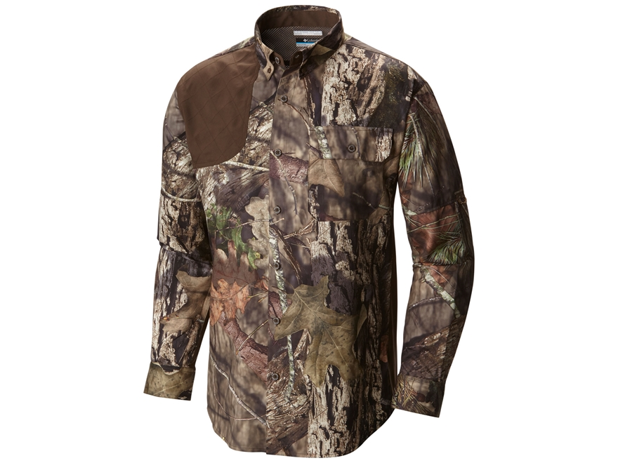 Columbia Men's Stealth Shot III BNG Button-Up Shirt Long Sleeve Polyester