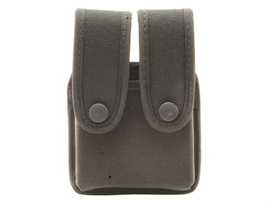 Uncle Mike's Double Magazine Pouch Double Stack Magazine Molded Insert Snap Closure Nyl...