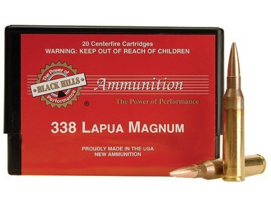 Black Hills Ammunition 338 Lapua Magnum 250 Grain Sierra MatchKing Hollow Point Boat Ta...