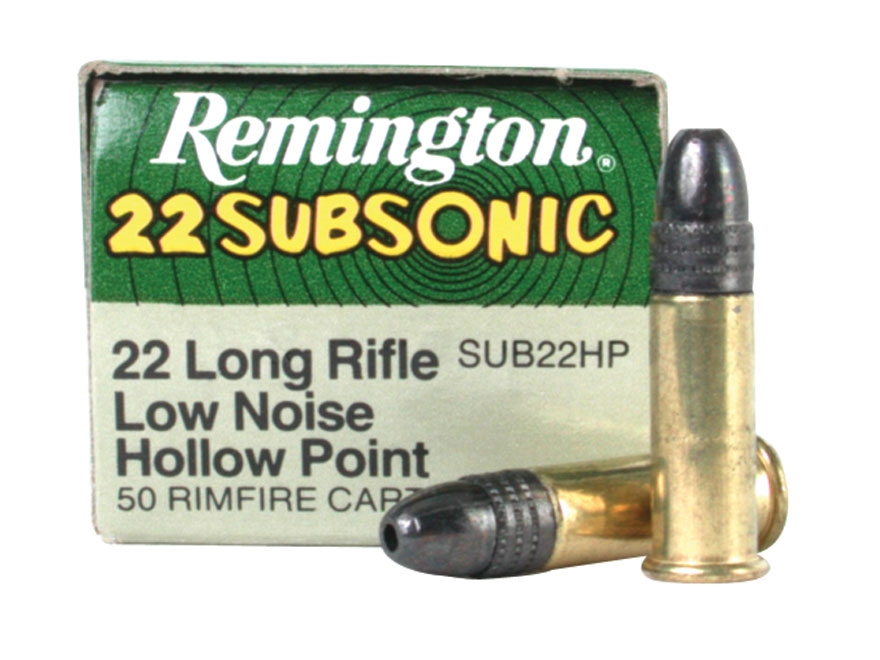 Remington Subsonic Ammunition 22 Long Rifle 38 Grain Lead Hollow Point Subsonic Box of ...