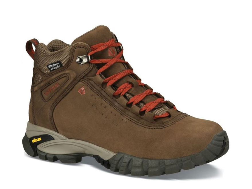 "Vasque Talus 5"" Ultradry Waterproof Hiking Boots Leather Turkish Coffee and Chili Peppe..."