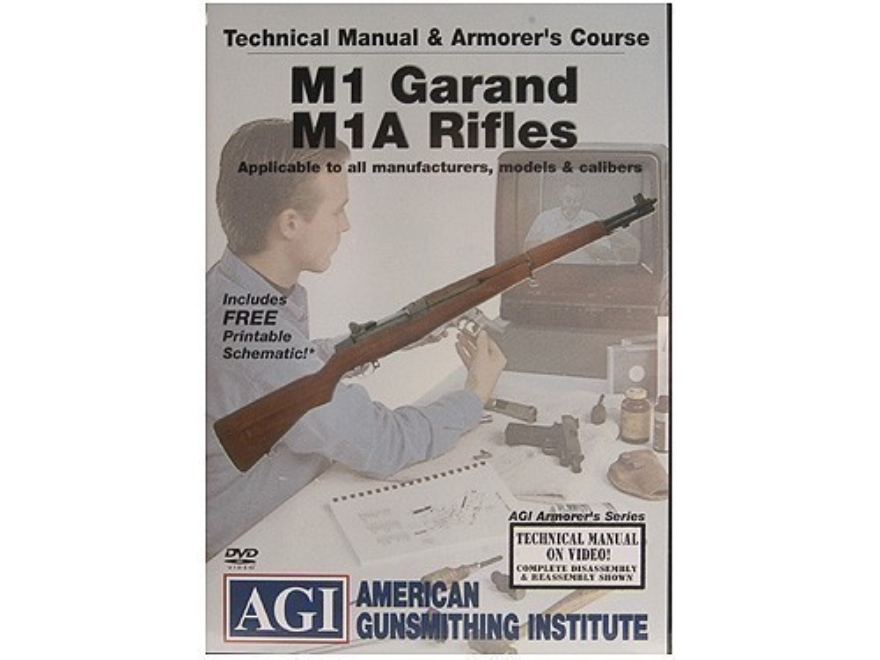 "American Gunsmithing Institute (AGI) Technical Manual & Armorer's Course Video ""M1 Gara..."