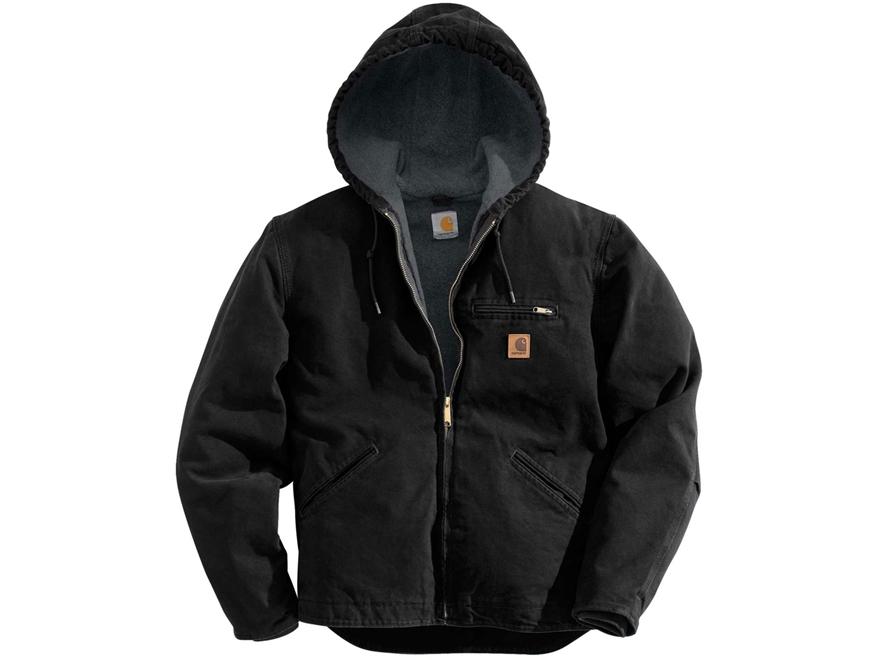 Carhartt Men's Sierra Sherpa Lined Sandstone Hooded Jacket Cotton