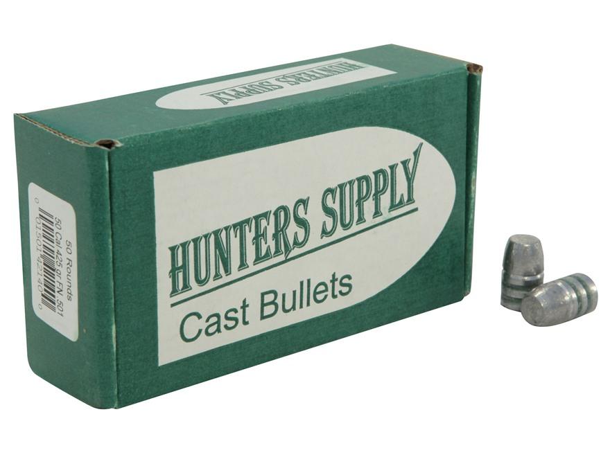 Hunters Supply Hard Cast Bullets 50 Caliber (501 Diameter) 425 Grain Lead Flat Nose