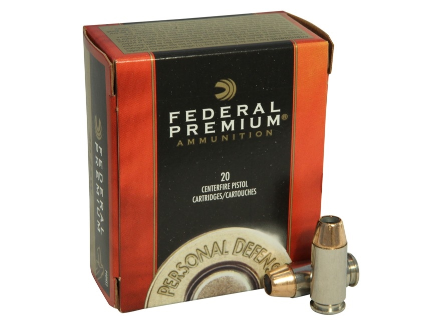 Federal Premium Personal Defense Ammunition 40 S&W 180 Grain Jacketed Hollow Point Box ...