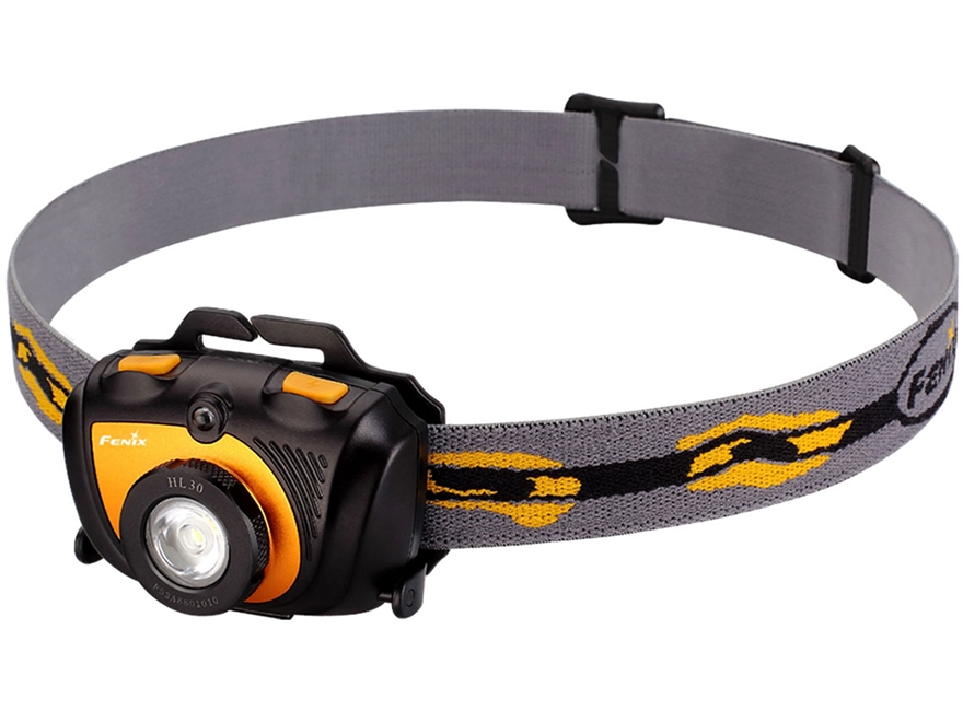 Fenix HL35 Headlamp LED with 2 AA Batteries Aluminum and Polymer Black