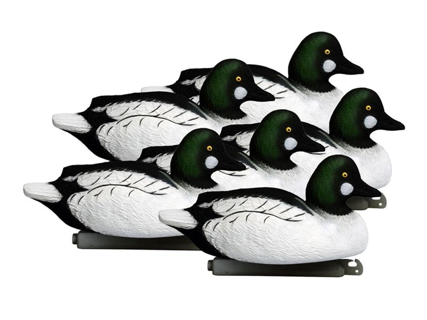 Higdon Battleship Foam Filled Goldeneye Duck Decoy Polymer Pack of 6