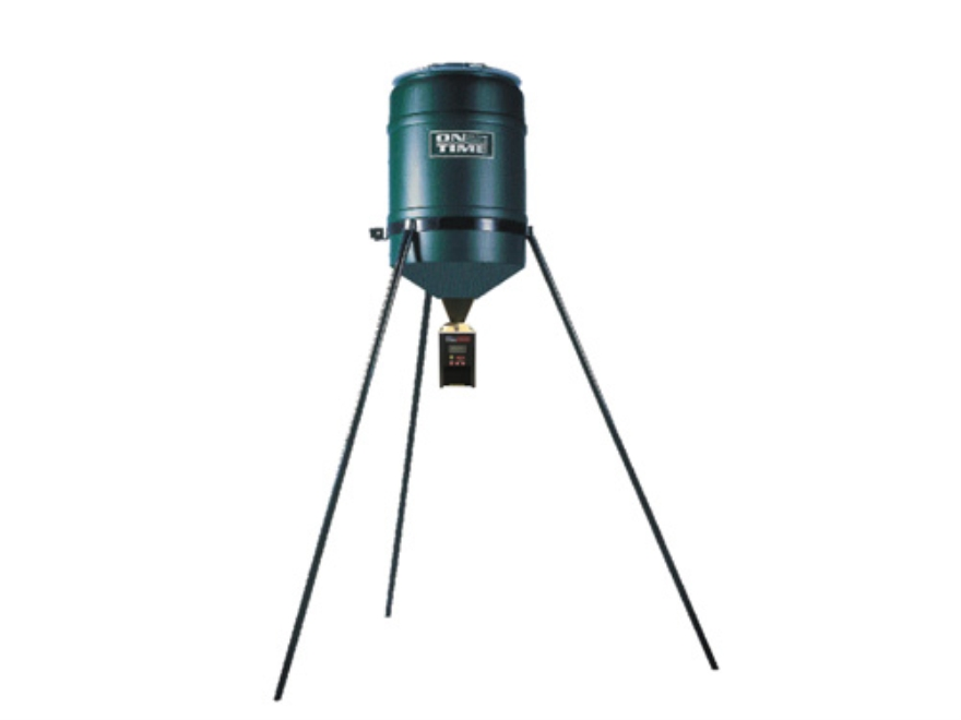 On Time Tomahawk VL 30 Gallon Tripod Game Feeder Combo