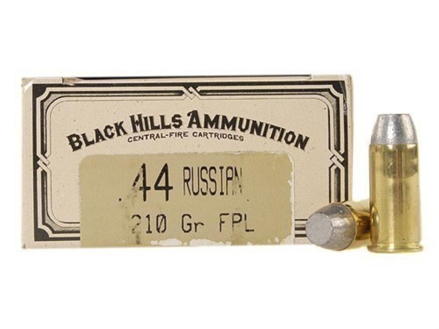 Black Hills Cowboy Action Ammunition 44 Russian 210 Grain Lead Flat Point Box of 50