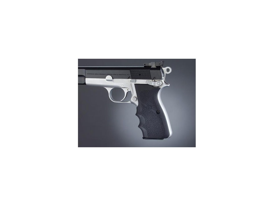 Hogue Wraparound Rubber Grips with Finger Grooves Browning Hi-Power Black