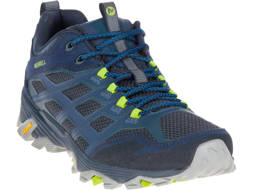 """Merrell Moab FST 4"""" Hiking Shoes Leather/Synthetic Navy Men's 9 D- Blemished"""