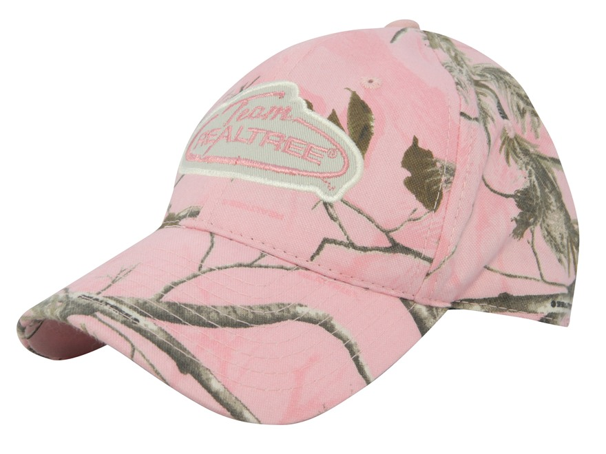 Team Realtree Women's Logo Cap Cotton Realtree AP Pink Camo