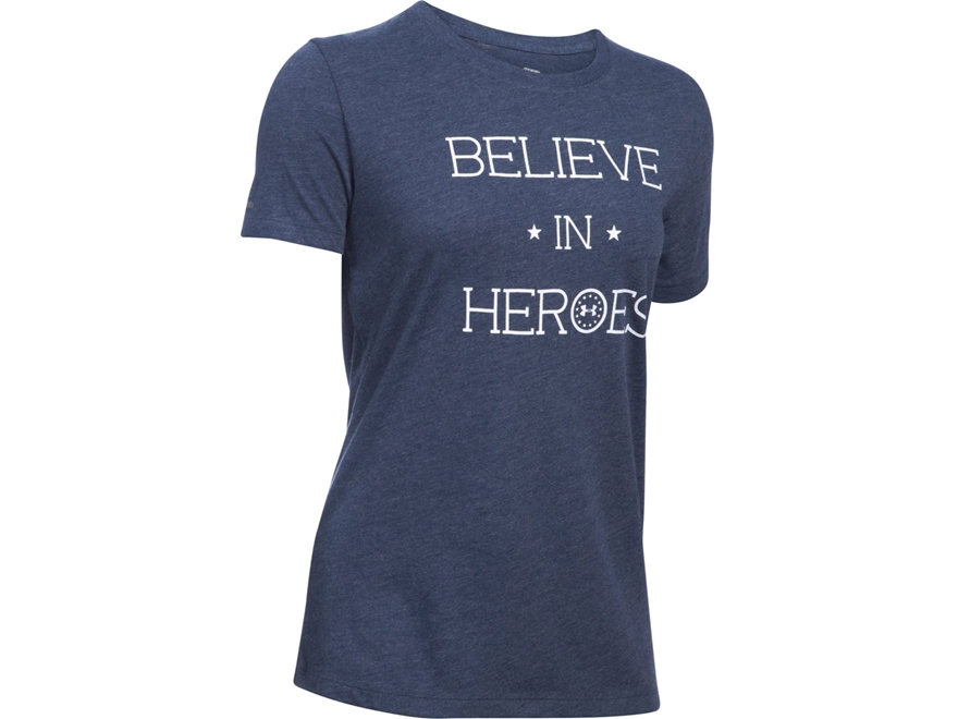 Under Armour Women's UA Believe In Heroes T-Shirt Short Sleeve Cotton and Polyester