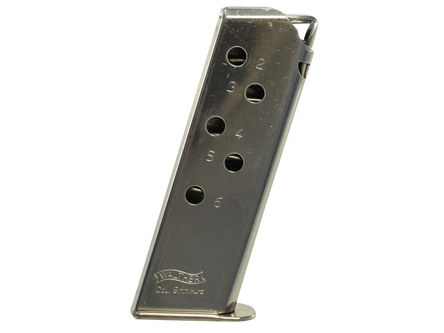 Walther Magazine PPK 380 ACP 6-Round Nickel