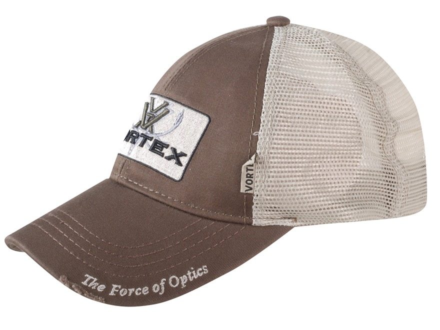 Vortex Optics Mesh Back Logo Cap Brown Cotton