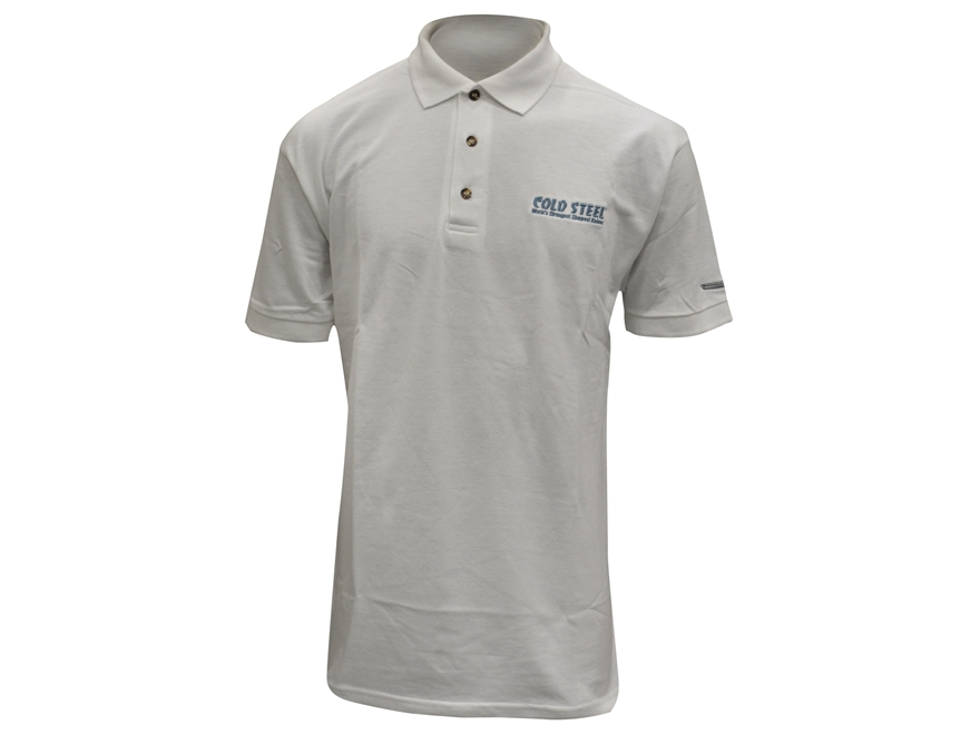 Cold Steel Logo Polo T-Shirt Short Sleeve Cotton