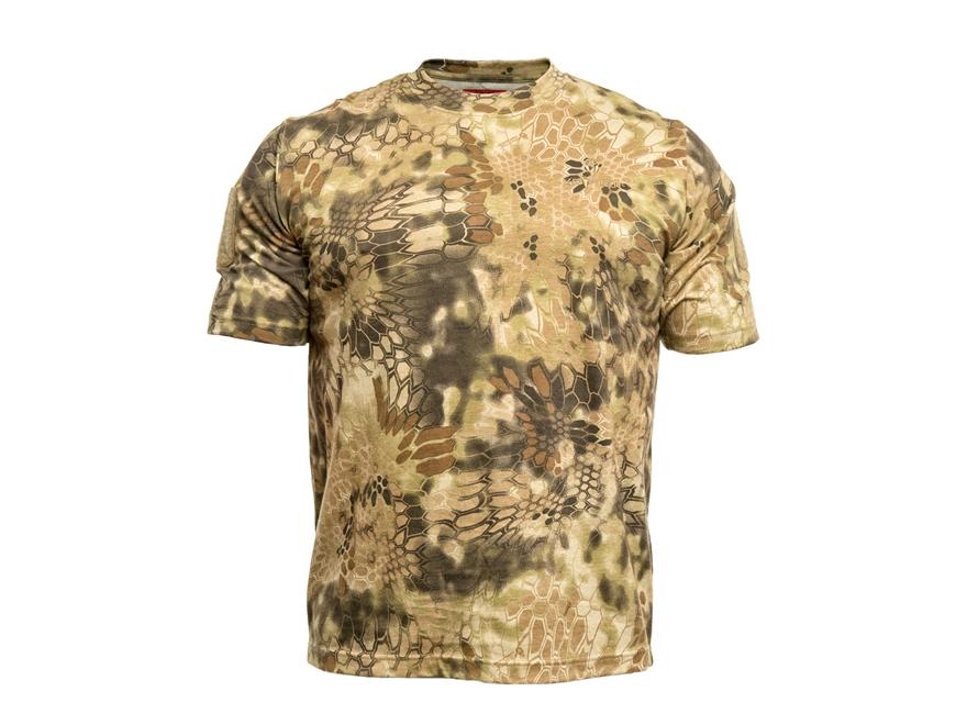 Kryptek Men's Stalker T-Shirt Short Sleeve Cotton Highlander Camo