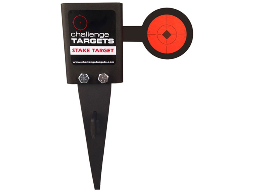 Challenge Targets Rimfire Ground Flipper Target Steel with Stake