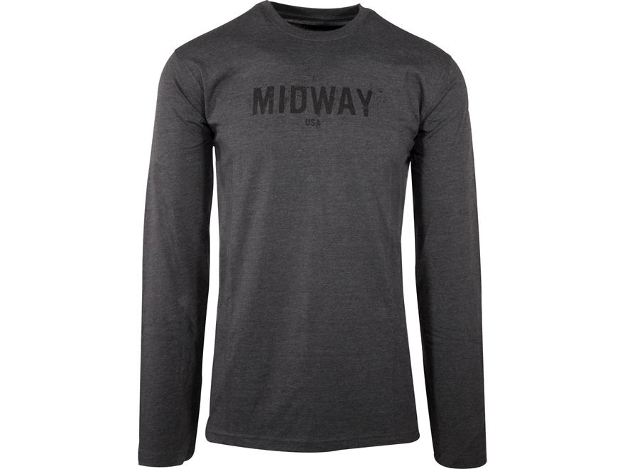 MidwayUSA Men's Long Sleeve T-Shirt Cotton Blend Splatter
