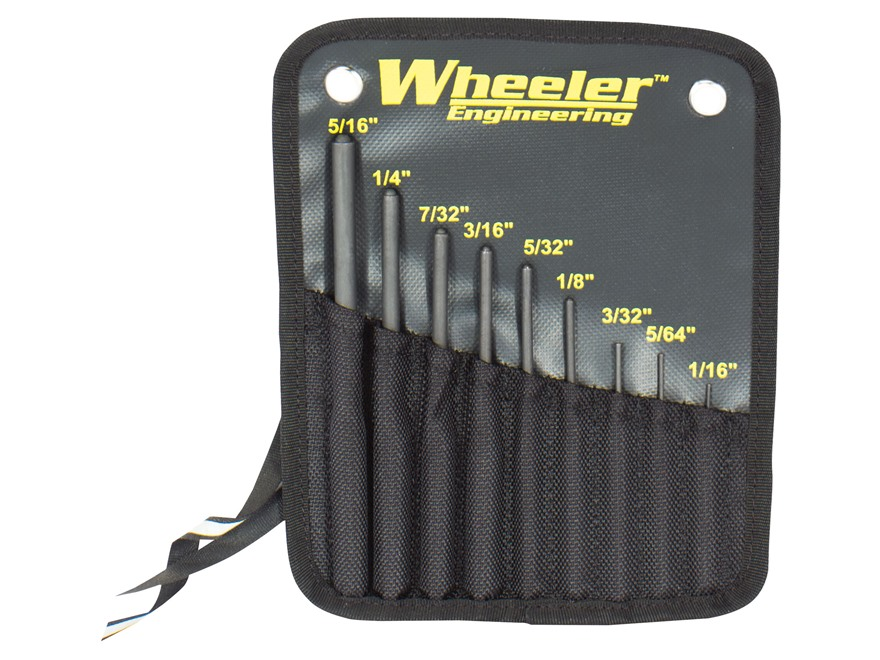 Wheeler Engineering Roll Pin Punch Set Steel