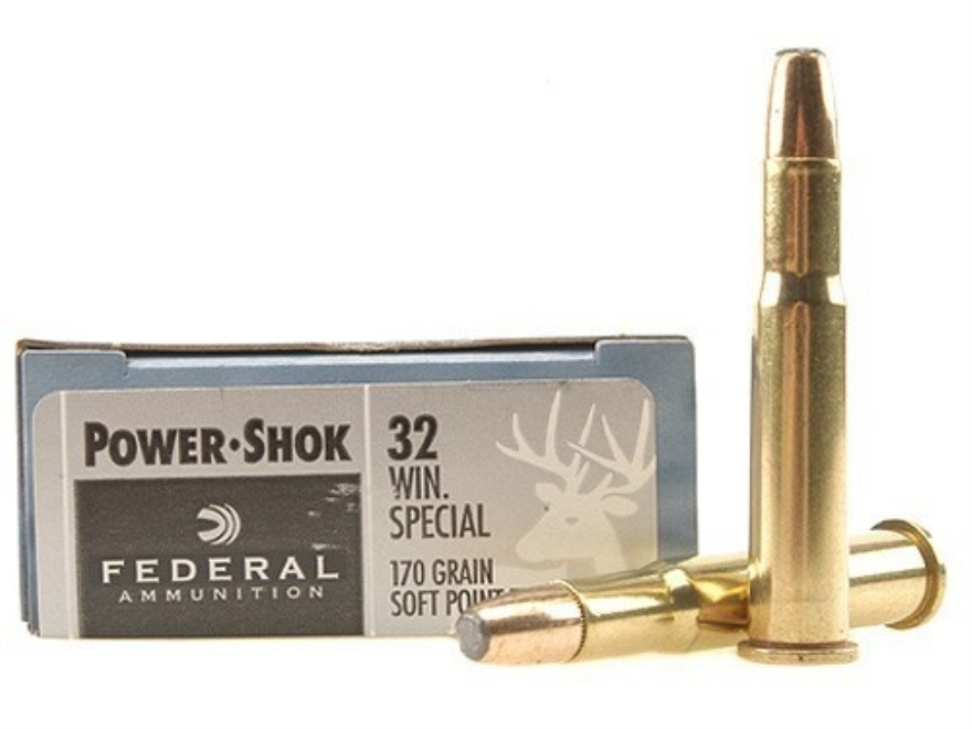 Federal Power-Shok Ammunition 32 Winchester Special 170 Grain Soft Point Flat Nose Box ...