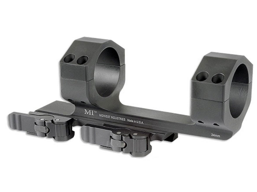 "Midwest Industries 34mm QD Scope Mount Picatinny-Style With 1.4"" Offset Matte"