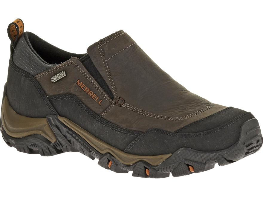 "Merrell Polarand Rove Moc 4"" Waterproof Hiking Shoes Leather"