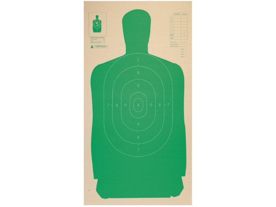 """Champion LE Police Silhouette Targets B-27 CB 24"""" x 45"""" Cardboard Package of 25"""