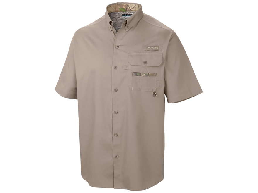 Columbia Men's Sharptail Button-Up Shirt Short Sleeve Cotton