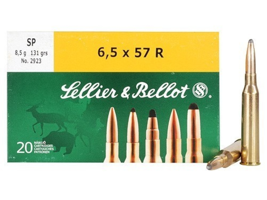 Sellier & Bellot Ammunition 6.5x57mm Rimmed 131 Grain Soft Point Box of 20