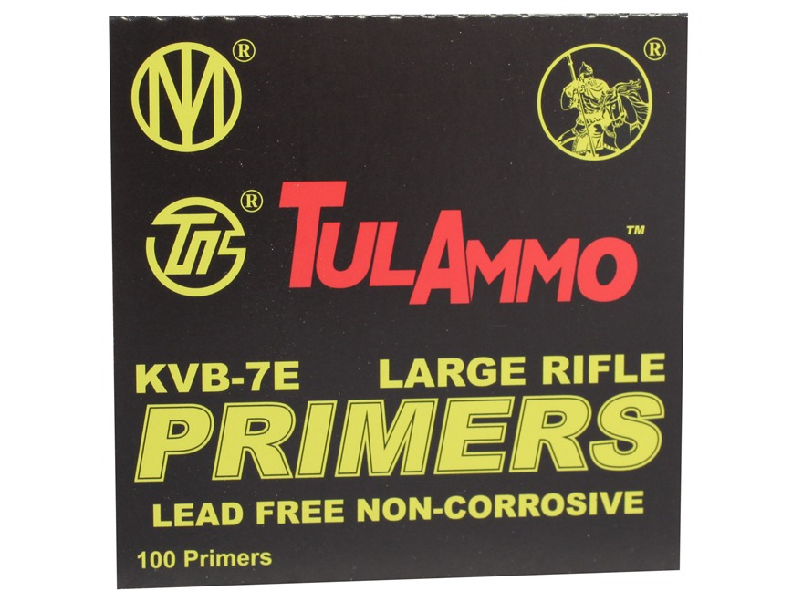 TulAmmo Large Rifle Primers Lead-Free Case of 5000 (5 Boxes of 1000)