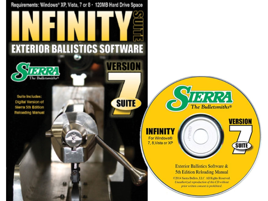 "Sierra Infinity Suite ""Infinity Exterior Ballistic Software Version 7 and 5th Edition M..."