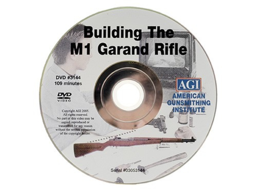 "American Gunsmithing Institute (AGI) Video ""Build an M1 Garand from a Parts Kit"" DVD"