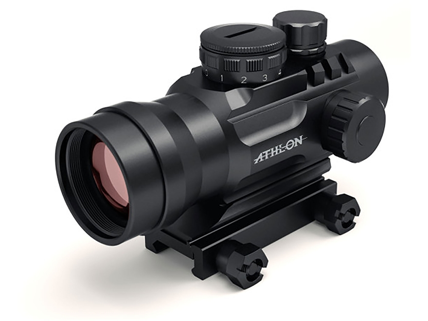Athlon Optics Midas BTR RD12 Red Dot Sight 1x 30mm Interchangeable Reticle with Picatin...