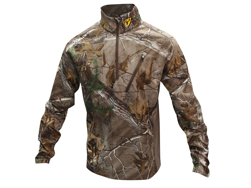 ScentBlocker Men's NTS 1/4 Zip Mock Base Layer Shirt