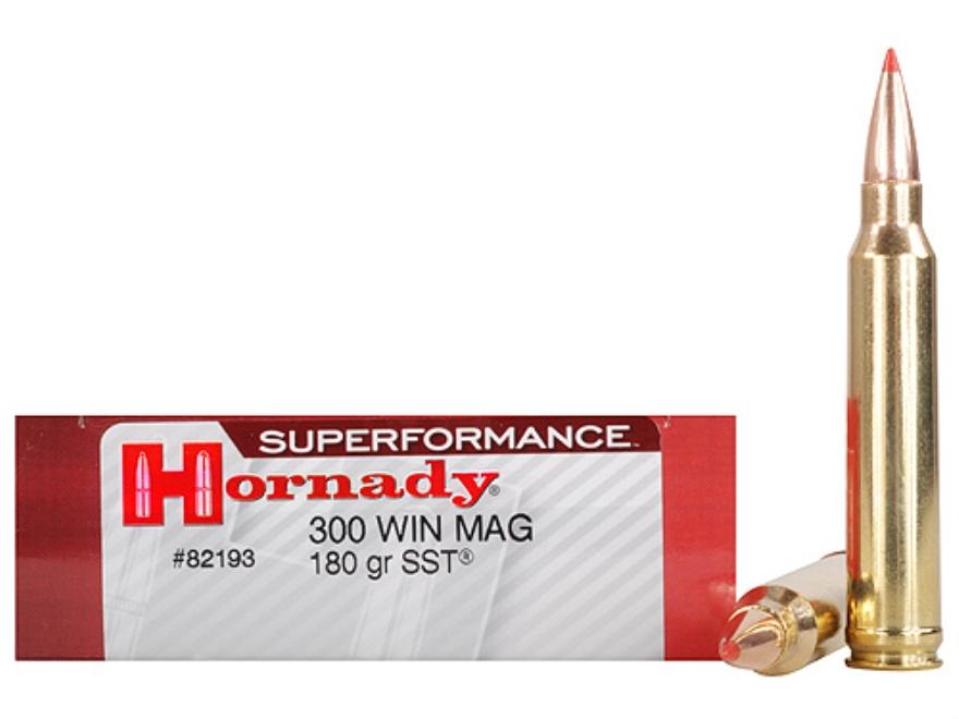 Hornady Superformance SST Ammunition 300 Winchester Magnum 180 Grain SST Box of 20