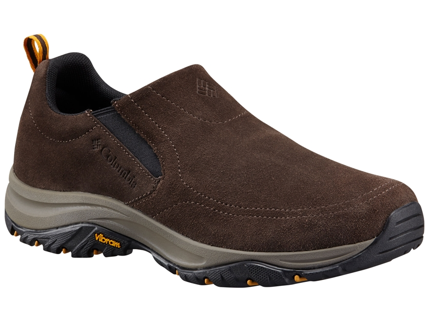 "Columbia Terrebonne Moc 4"" Hiking Shoes Leather Cordovan/Black Men's 8 D"
