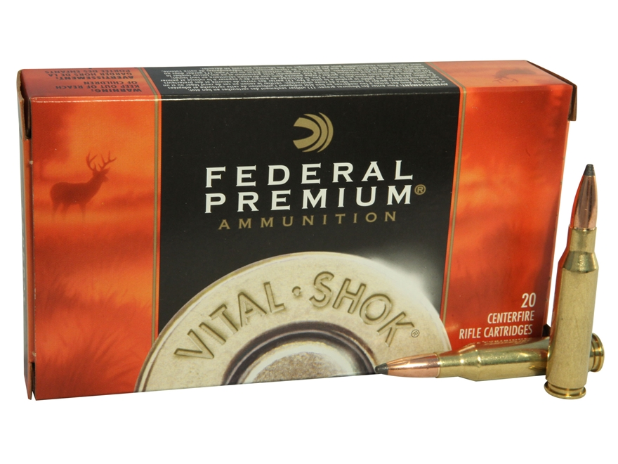 Federal Premium Vital-Shok Ammunition 7mm-08 Remington 140 Grain Nosler Partition Box o...