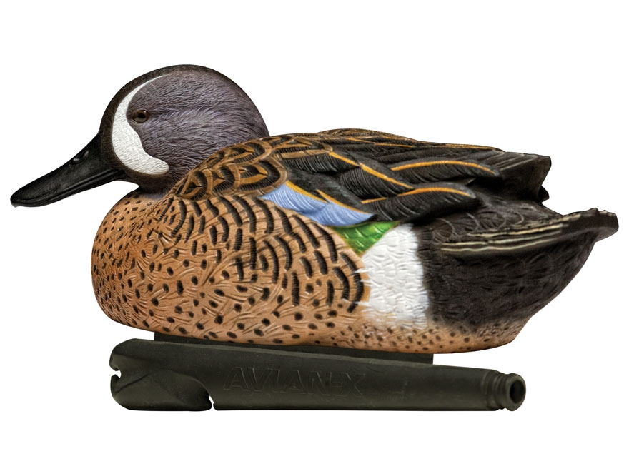 Avian-X Top Flight Blue Wing Teal Weighted Keel Duck Decoy Pack of 6