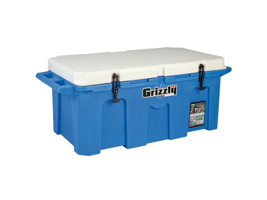 Grizzly 150 Qt Cooler with Molded Handles Polyethylene Blue