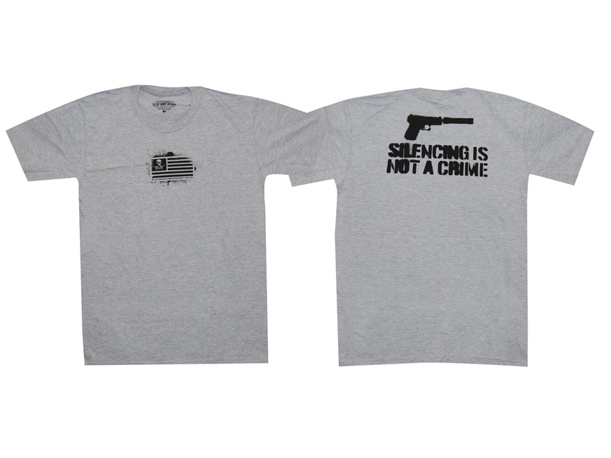 "Advanced Armament Co (AAC) ""Silencing Is Not A Crime"" T-Shirt Short Sleeve Cotton Gray ..."