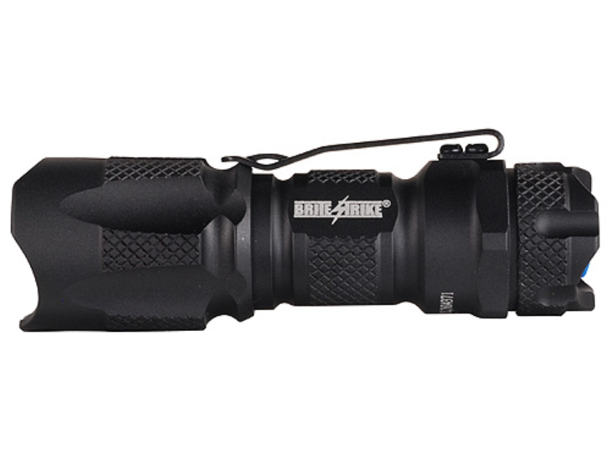 Brite Strike BD-180-HLS-1C Flashlight LED with 1 CR123A Battery Aluminum Black