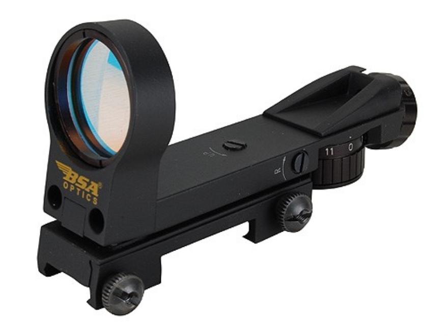 BSA Red Dot Sight 33mm Heads Up Display 4-Pattern Reticle (3 MOA Dot, 5 MOA Dot, 8 MOA ...