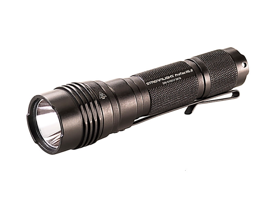 Streamlight ProTac HL-X Flashlight LED with 2 CR123A Batteries and Holster Aluminum Black