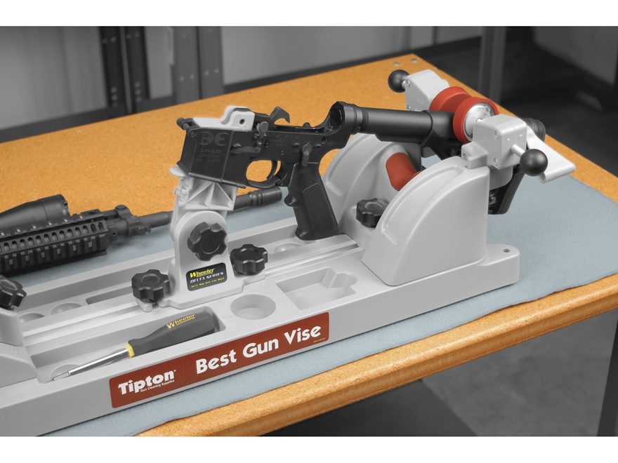 Tipton best gun vise with free wheeler engineering delta series ar 15